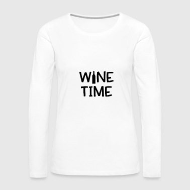 Reading wine time 01 - Women's Premium Long Sleeve T-Shirt