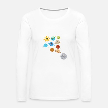 Star Funny Solar System - Planets Moon Sun - Humor - Women's Premium Long Sleeve T-Shirt
