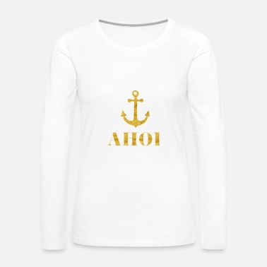 Boat Ahoi Anchor Wave - Women's Premium Long Sleeve T-Shirt