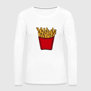 French Fries Potatoes Food Lover - Women's Premium Long Sleeve T-Shirt