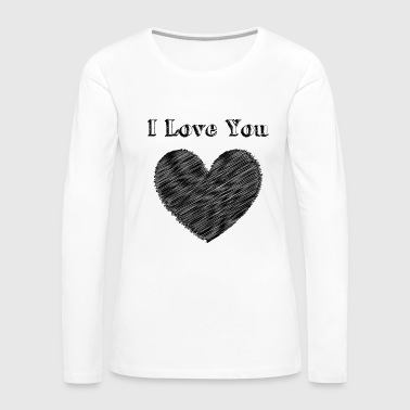 Red Heart Illustration Love with heart - Women's Premium Long Sleeve T-Shirt