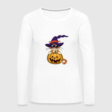 Pumpkin Halloween Monster Zombie Horror - Women's Premium Long Sleeve T-Shirt