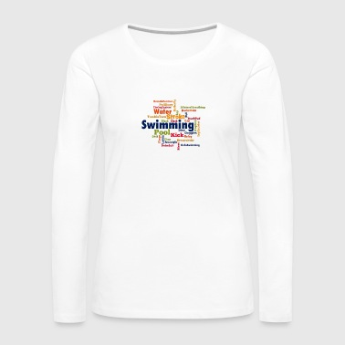 Swimming Word Cloud - Women's Premium Long Sleeve T-Shirt