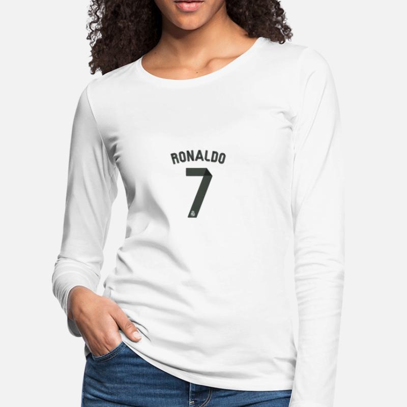 best service ad9b3 bd30e Shop Ronaldo Long-Sleeve Shirts online | Spreadshirt