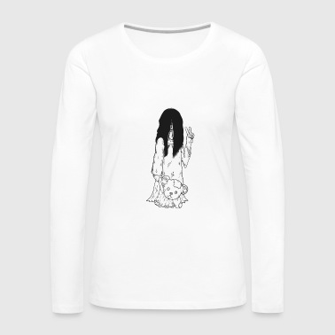 Cute Ghost Girl - Women's Premium Long Sleeve T-Shirt