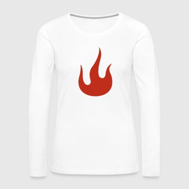 Flame - Women's Premium Long Sleeve T-Shirt