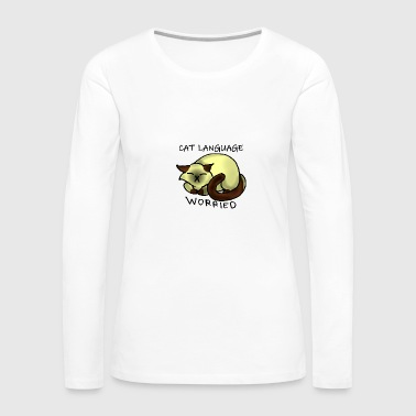 Cat Language - Women's Premium Long Sleeve T-Shirt