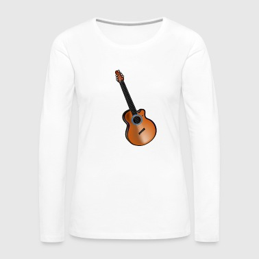 Acoustic Guitar - Women's Premium Long Sleeve T-Shirt