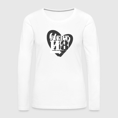 Fight Hate H8 Peace Kindness Stop Racism Bullying Black - Women's Premium Long Sleeve T-Shirt