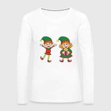 Christmas Xmas Elf Elves - Women's Premium Long Sleeve T-Shirt