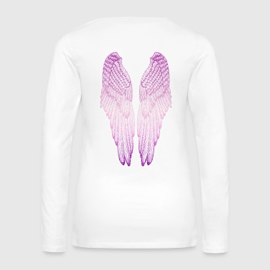 Archangel Long Pink Wings - Women's Premium Long Sleeve T-Shirt