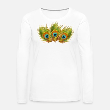 Peacock Peacock Feathers - Women's Premium Long Sleeve T-Shirt
