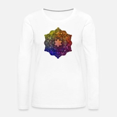 Flora Beautiful mandala drawing shape icon - Women's Premium Long Sleeve T-Shirt