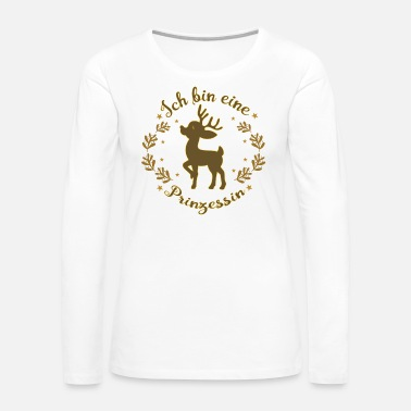 Princess Beautiful deer as princess christmas - Women's Premium Long Sleeve T-Shirt