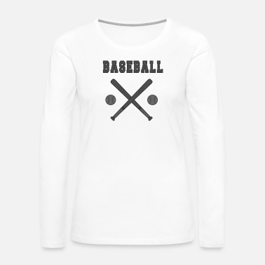 Softball Baseball bat with balls Bat - Women's Premium Long Sleeve T-Shirt