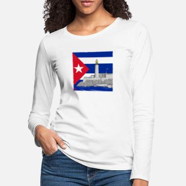 Del Castillo Cuba Havana lighthouse - Women's Premium Longsleeve Shirt