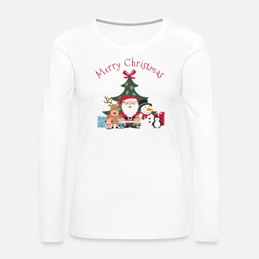 Merry Merry Christmas graphic - Women's Premium Long Sleeve T-Shirt