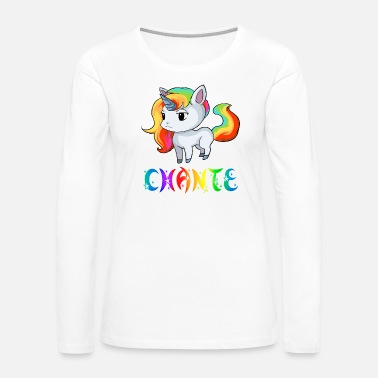 Chant Chante Unicorn - Women's Premium Long Sleeve T-Shirt
