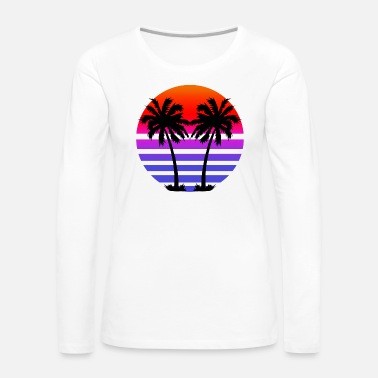 Palm Trees Gradient Palm Trees - Women's Premium Long Sleeve T-Shirt