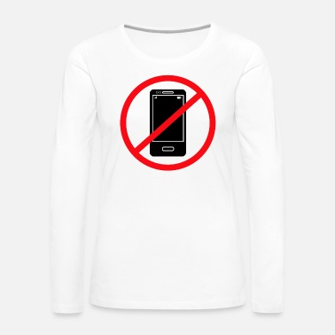 Mobile Phone Vector no mobile phones sign - Women's Premium Long Sleeve T-Shirt