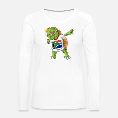 Africa South Africa Dabbing Turtle - Women's Premium Long Sleeve T-Shirt