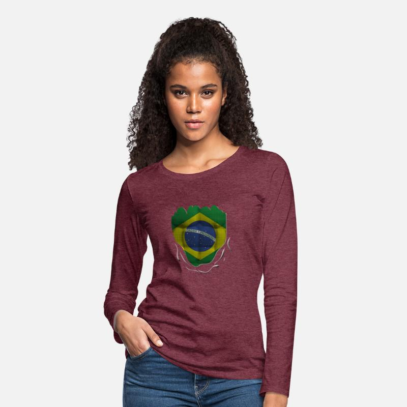 Brazil Football Carnival Womens Slim Fit Casual Hooded Lightweight Long Sleeve Sweatshirt and Hoodie