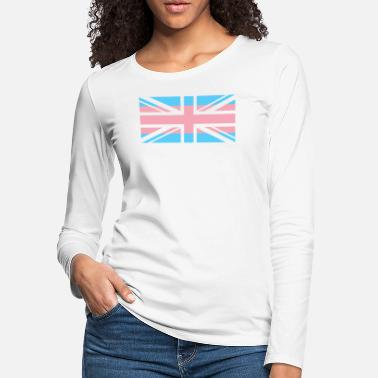 British-flag Gay Pride LGBT Transgender UK Union Flag Stripe - Women's Premium Longsleeve Shirt