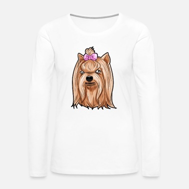 Rescue Yorkshire Terrier Dog Puppy Doggie gift Present - Women's Premium Long Sleeve T-Shirt
