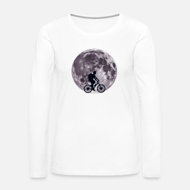 Drive Moon Biking - Bike, Bicycle, Cycling - D3 Designs - Women's Premium Long Sleeve T-Shirt