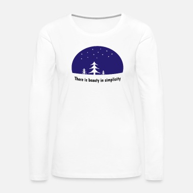 Planet Nature Trees Wood Gift Idea Mountains Saying - Women's Premium Long Sleeve T-Shirt