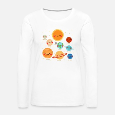 Solar System Kid s Solar System - Women's Premium Long Sleeve T-Shirt