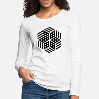 Hexagon Masked Hexagons 4 - Women's Premium Longsleeve Shirt