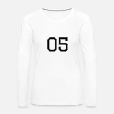Rugby Number 5 American Football, Soccer, Sports Design - Women's Premium Long Sleeve T-Shirt