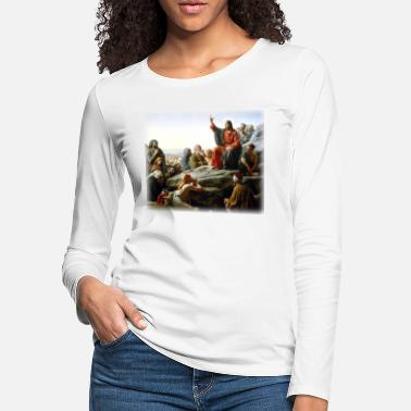Madonna carl_heinrich_bloch__sermon_on_the_mount - Women's Premium Longsleeve Shirt