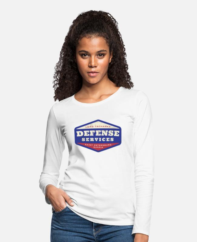 Six Long-Sleeved Shirts - Lord Tachanka's Defense Services - Women's Premium Longsleeve Shirt white
