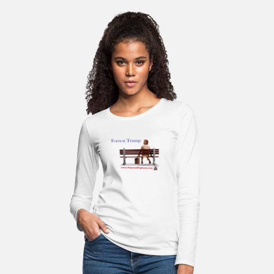 Government Long-Sleeve Shirts - Forrest Trump - Women's Premium Longsleeve Shirt white