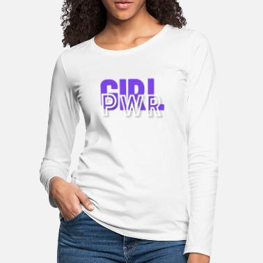 Anns Selection Girl Power - Women's Premium Longsleeve Shirt