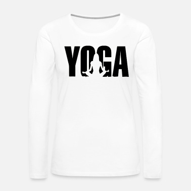 Ornament yoga sitting - Women's Premium Long Sleeve T-Shirt