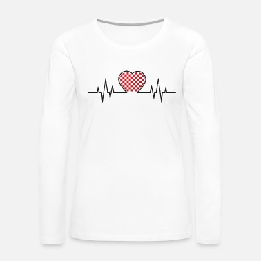 Nasa From Croatia with Love - Croatian heart beat black - Women's Premium Long Sleeve T-Shirt