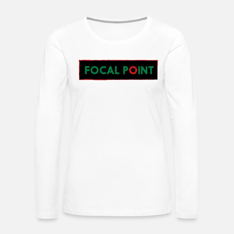 Center Long sleeve shirts - FOCAL - Women's Premium Longsleeve Shirt white