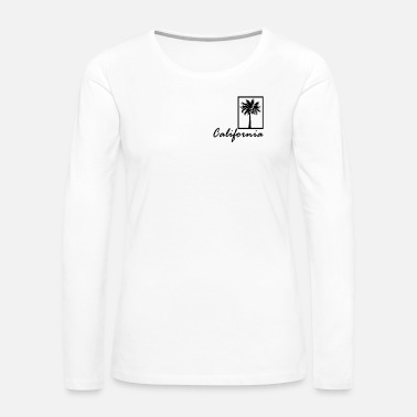 Palm Trees Holiday Beach Palm Tree surfing Tee Palm - Women's Premium Long Sleeve T-Shirt