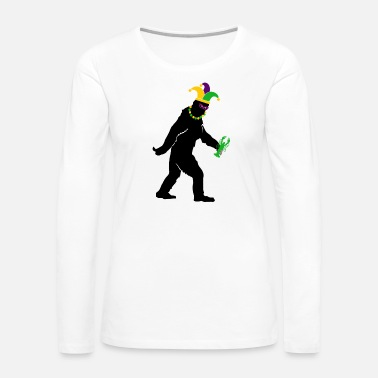 Bigfoot Mardi Gras Big Foot Carnival For Men Women Costume - Women's Premium Long Sleeve T-Shirt
