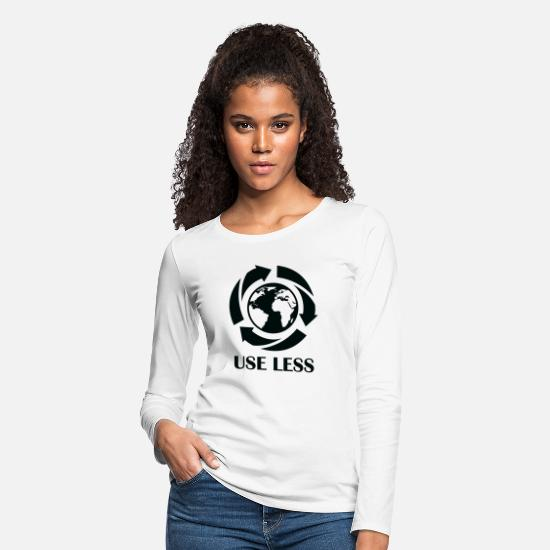 Global Long-Sleeve Shirts - Use Less - Women's Premium Longsleeve Shirt white