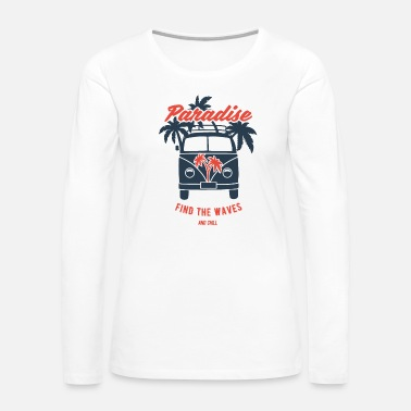 Surfer Bus - Women's Premium Long Sleeve T-Shirt