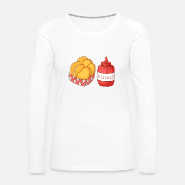 Fast French Fries Ketchup - Women's Premium Long Sleeve T-Shirt