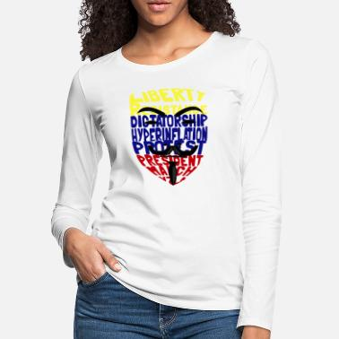 Anonymouse venezuela for Dictatorship - Women's Premium Longsleeve Shirt
