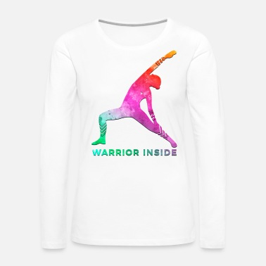 Mastectomy Breast Cancer Awareness Art For Warrior Women Dark Light - Women's Premium Long Sleeve T-Shirt
