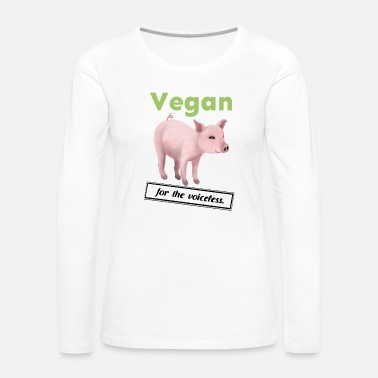 Doctor Vegan - for the voiceless (pig) - Women's Premium Long Sleeve T-Shirt