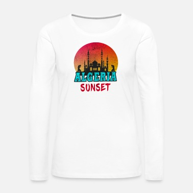 Mosque Algeria Vintage / North Africa Gift Islam Mosque - Women's Premium Long Sleeve T-Shirt