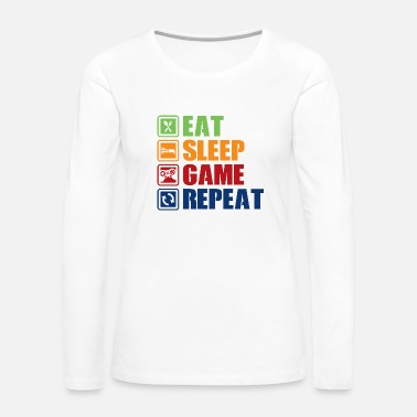 Console Eat, sleep, game, repeat - Women's Premium Long Sleeve T-Shirt